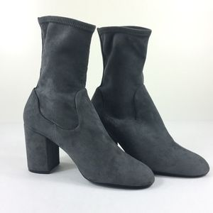 Halogen  9.5 M Jacy Stretch Sock Suede Bootie